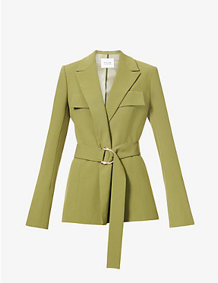 GALVAN: Safari belted crepe jacket