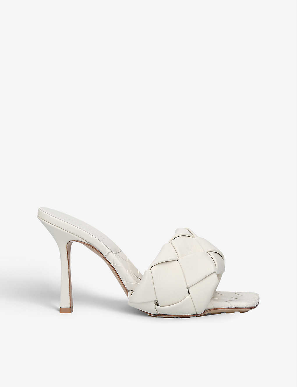 BOTTEGA VENETA: Intrecciato leather heeled mules
