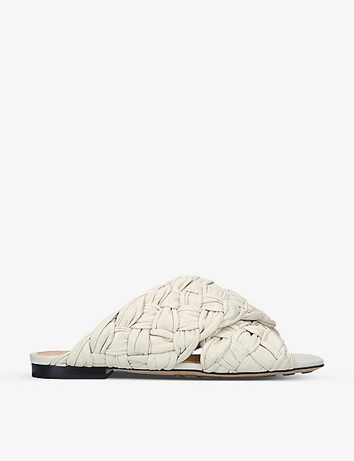 BOTTEGA VENETA: BV Board Intrecciato leather sandals