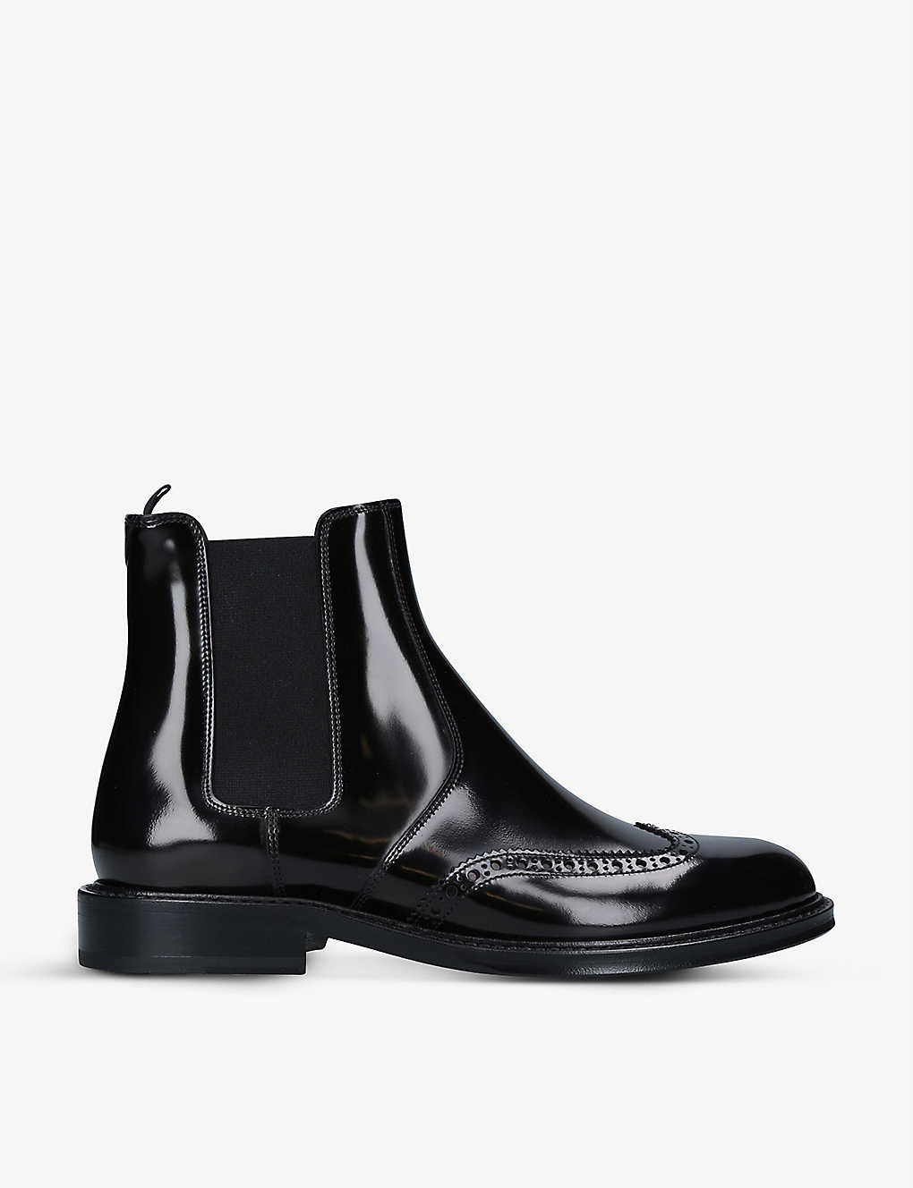 SAINT LAURENT: Ceril brogue-detail leather Chelsea boots
