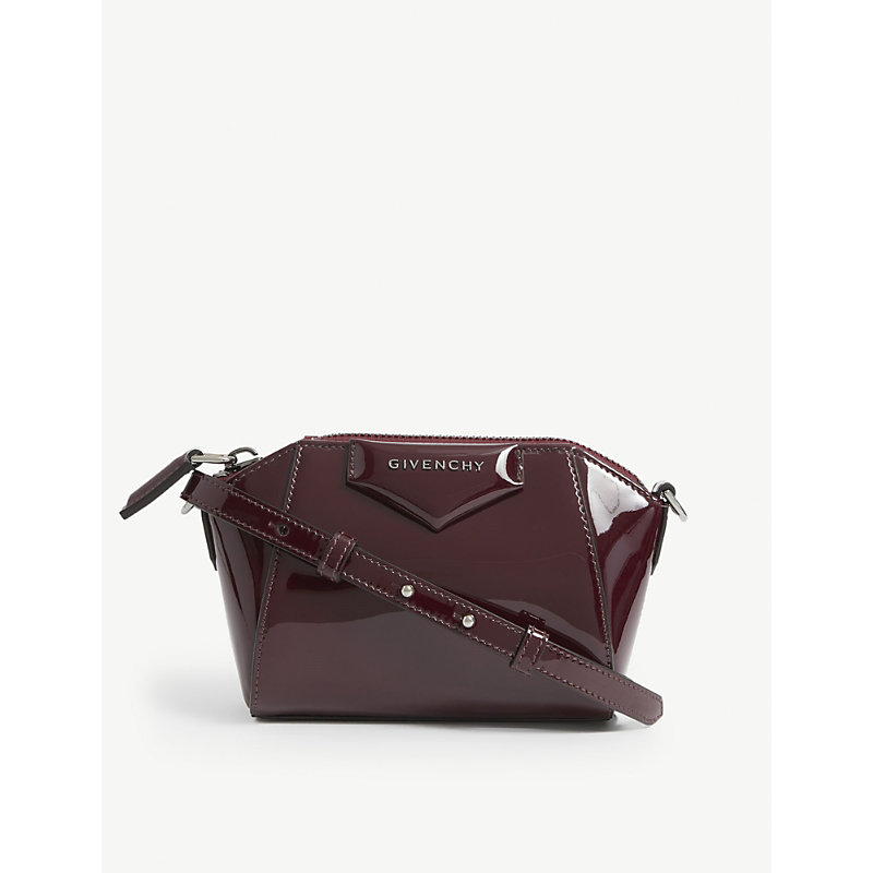Givenchy ANTIGONA NANO PATENT LEATHER SHOULDER BAG