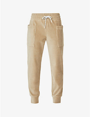 MICHI: Hygge tapered mid-rise jogging bottoms