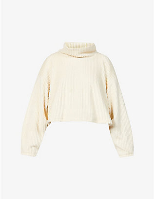 MICHI: Juniper turtleneck cropped knitted jumper