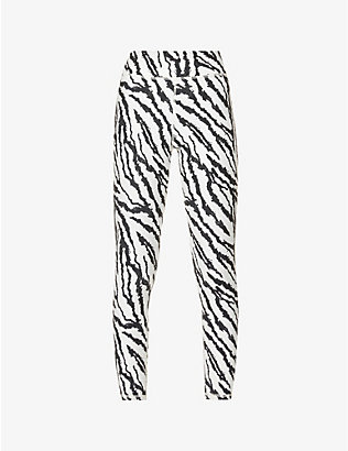 MICHI: Verve tiger-print high-rise stretch-jersey leggings