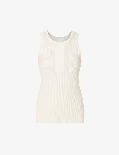 REEBOK X VICTORIA BECKHAM: Ribbed stretch-knit top