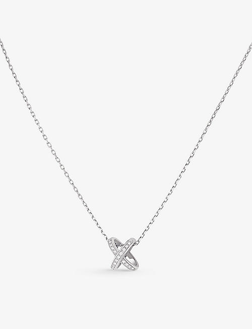 CHAUMET: Jeux de Liens 18ct white-gold and diamond necklace