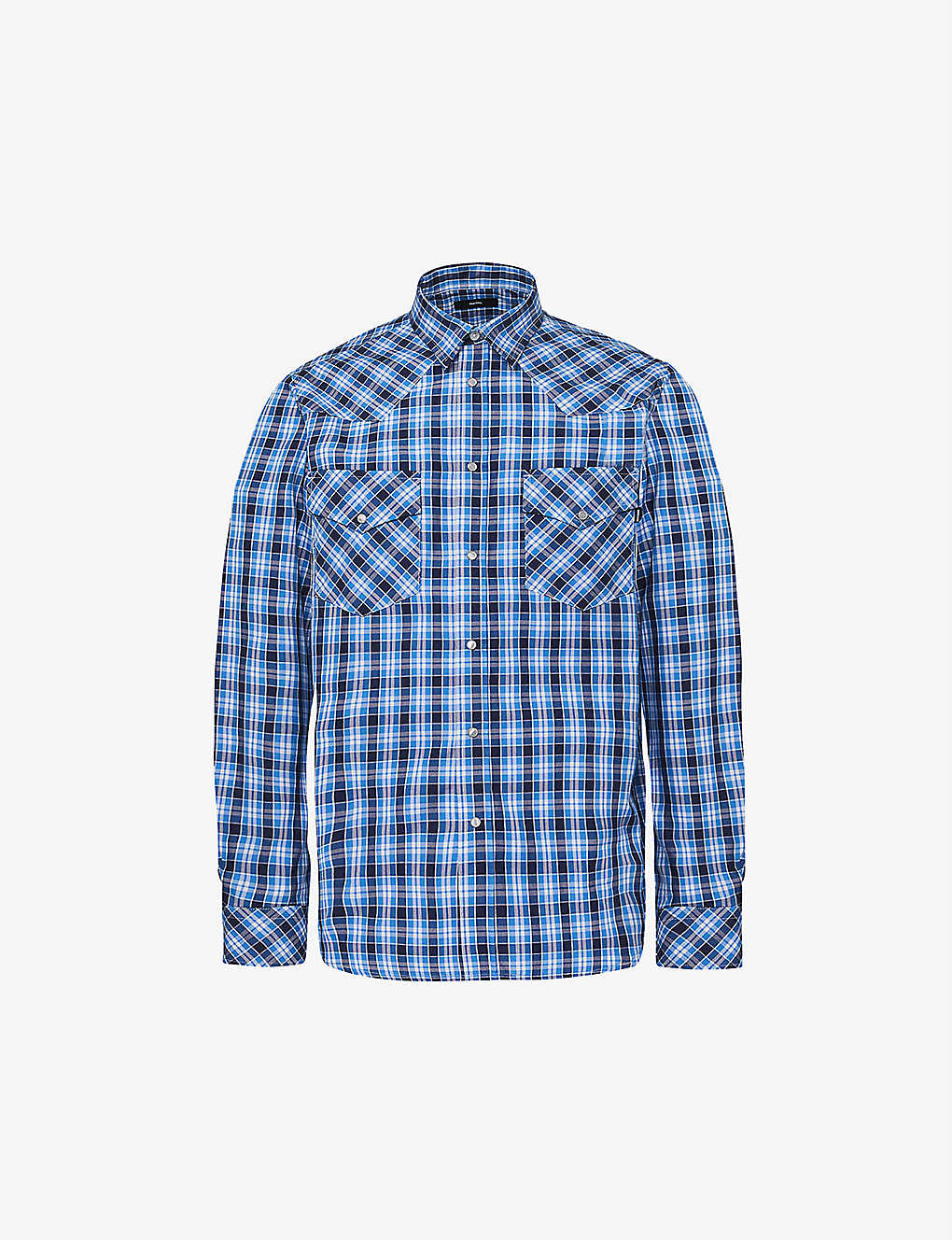 DIESEL: Checked cotton shirt