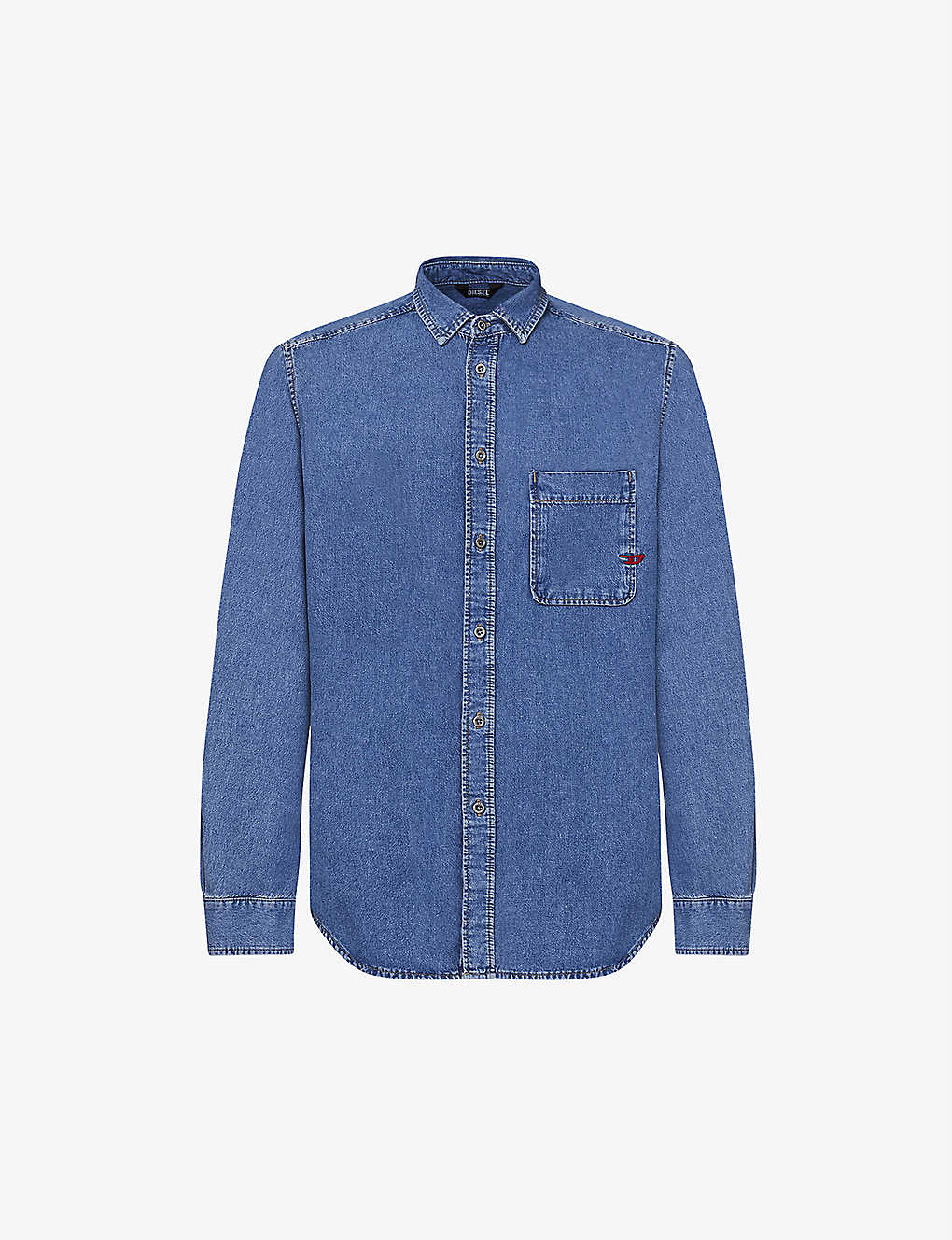 DIESEL: D-BILLY regular-fit denim shirt