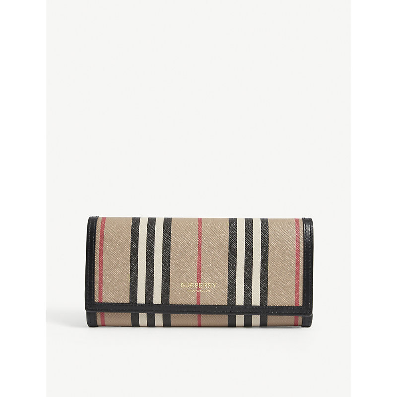Burberry ICON STRIPE ECO-CANVAS CONTINENTAL WALLET