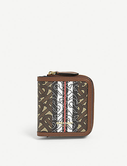 BURBERRY: Allington TB monogram E-canvas wallet