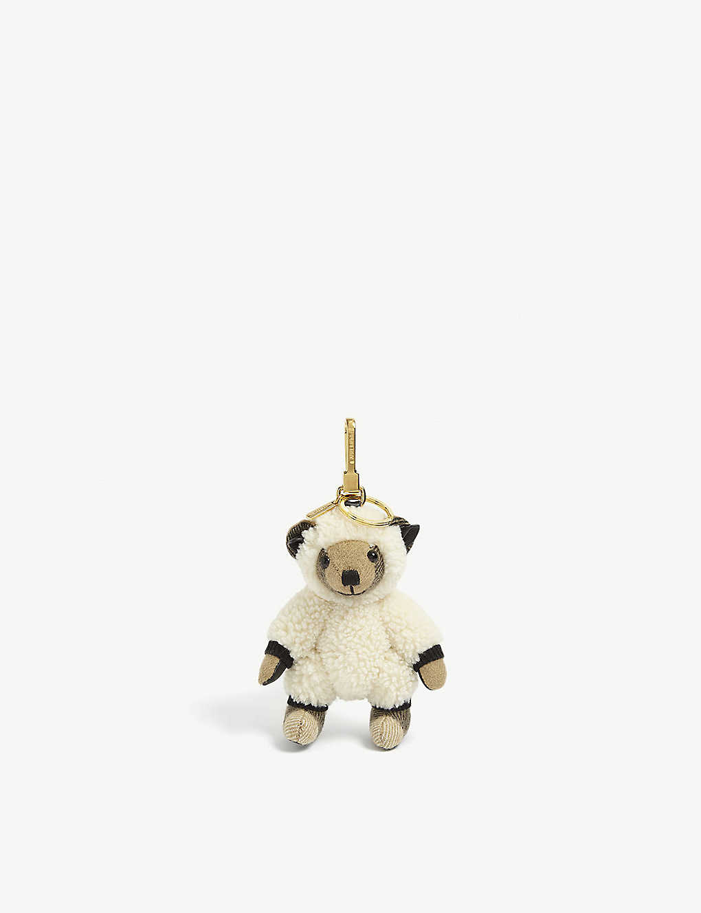 BURBERRY: Thomas Sheep cashmere bag charm