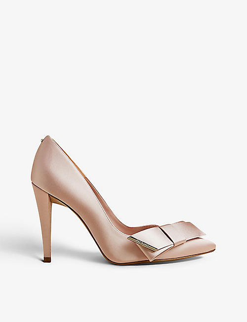 TED BAKER: Daysii pointed-toe satin courts
