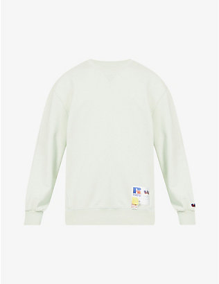 RUSSELL ATHLETIC: Nuke logo-patch organic-cotton sweatshirt
