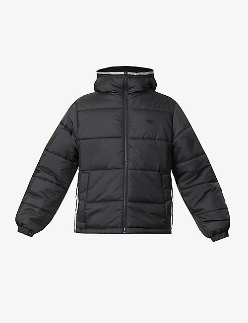 ADIDAS: Padded hooded recycled-polyester jacket