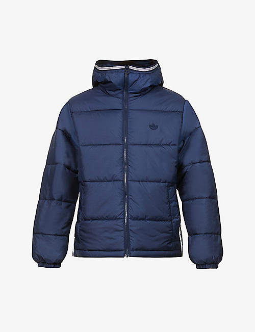 ADIDAS: Padded hooded shell-down jacket