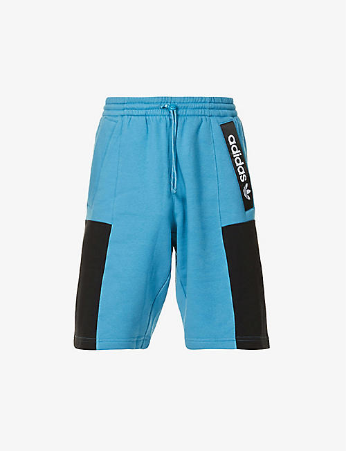 ADIDAS: Advent contrast-panel cotton-blend shorts