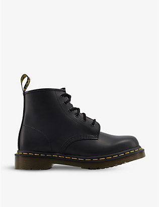 DR. MARTENS: 101 Brando 6-eye leather boots