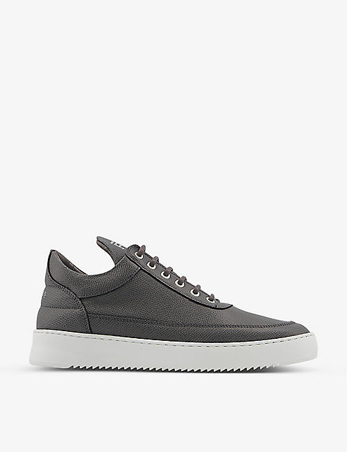 FILLING PIECES: Low Top Ripple leather trainers