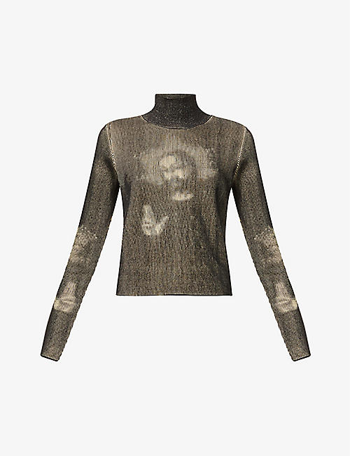 KEPLER: Jesus turtleneck ribbed-knit organic-cotton jumper