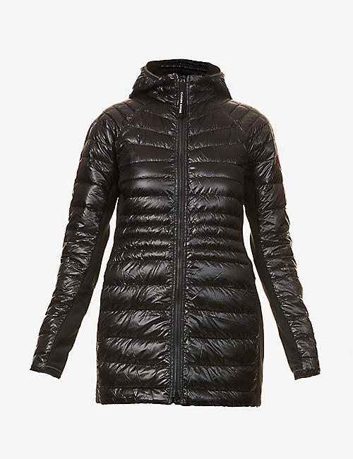 CANADA GOOSE: HyBridge hooded padded shell-down jacket