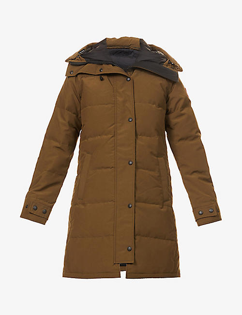 CANADA GOOSE: Shelburne hooded shell-down parka
