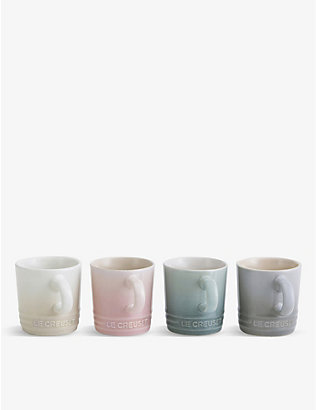 LE CREUSET: Calm stoneware espresso cups set of four