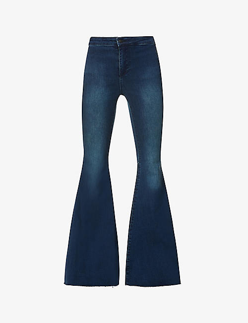 FREE PEOPLE: Just Float On flared slim-fit high-rise jeans
