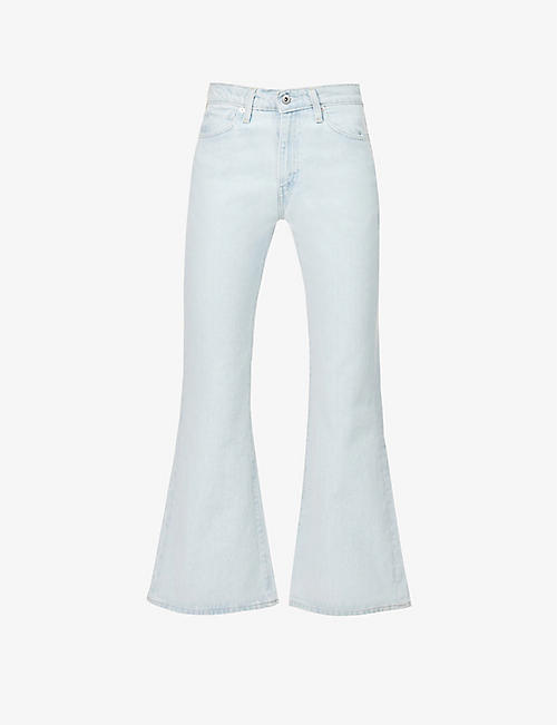 LEVIS: Flared high-rise organic cotton denim jeans