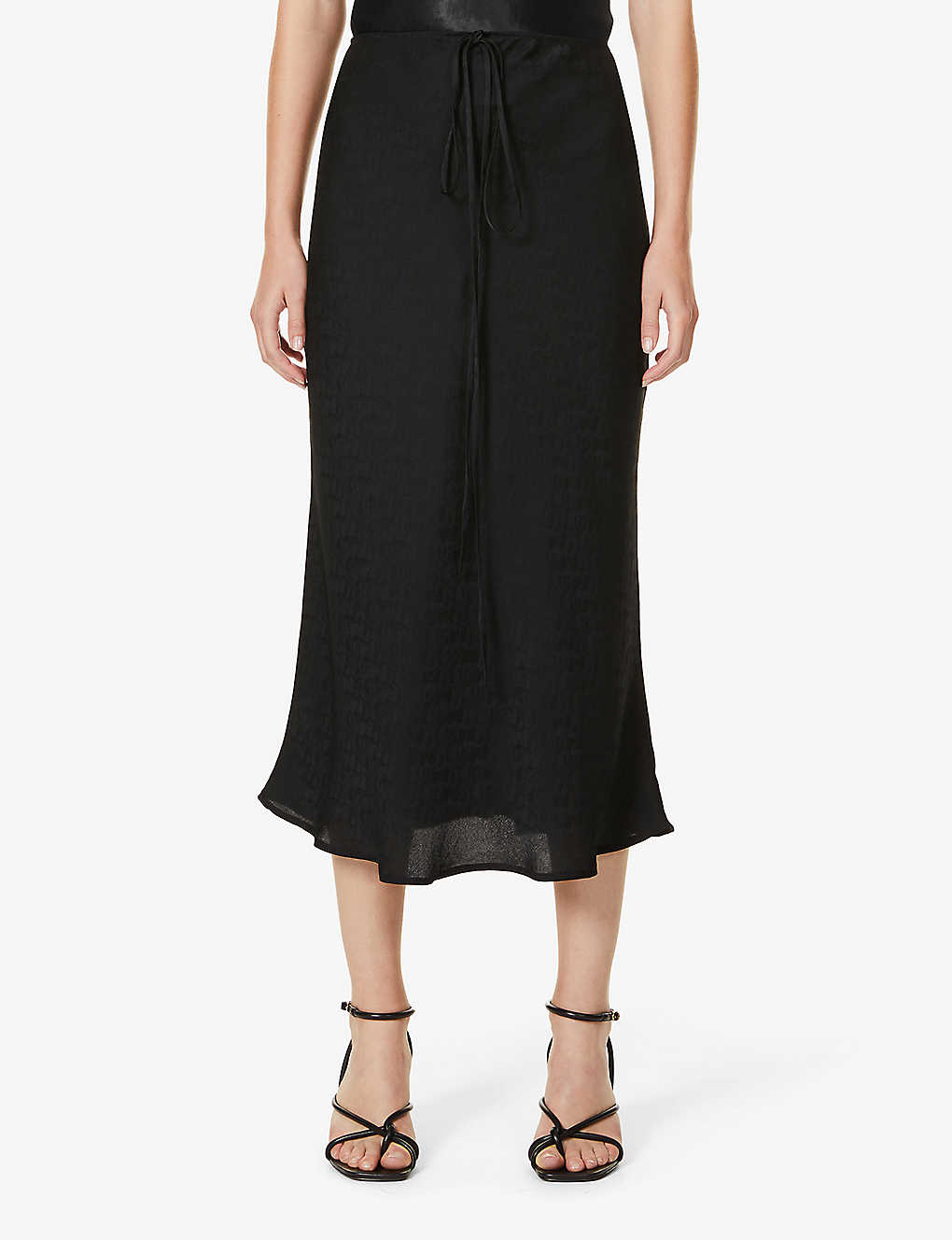 REFORMATION: Eden high-waisted silk-crepe midi skirt
