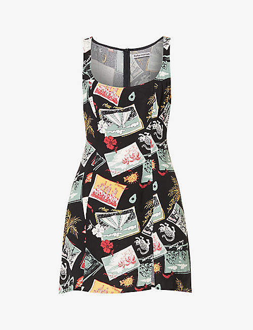 REFORMATION: Noha printed crepe mini dress