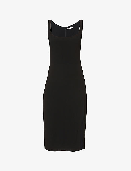 REFORMATION: Norton sleeveless crepe midi dress
