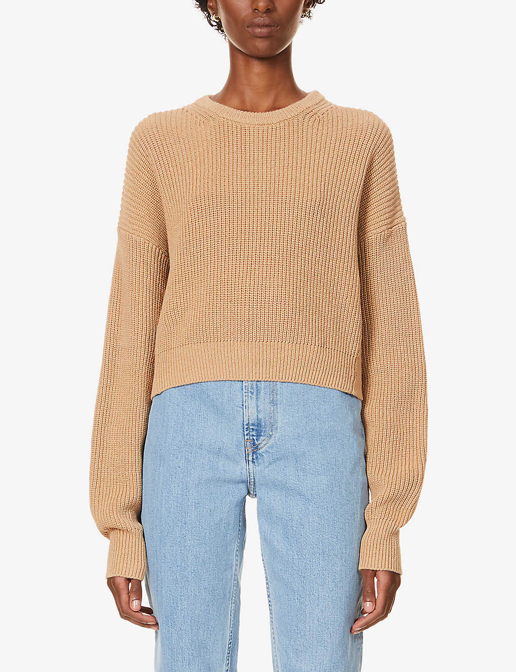 REFORMATION: Sami cropped organic-cotton jumper