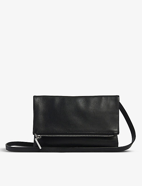 WHISTLES: Issy mini foldover leather bag