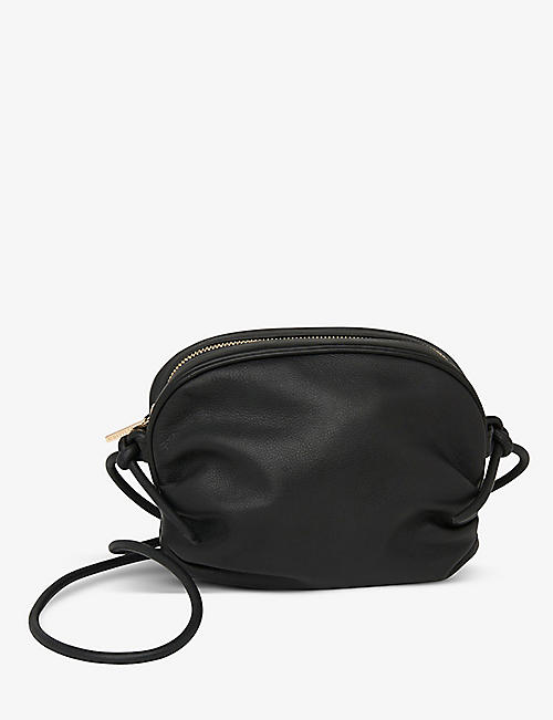 WHISTLES: Riya gathered smooth-leather cross-body bag