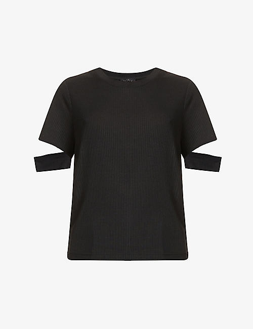 THE RANGE: Narrow Split cut-out stretch-jersey T-shirt