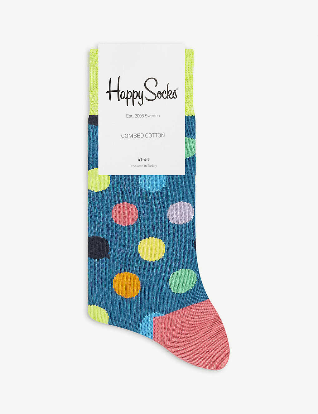 HAPPY SOCKS: Dotted cotton-blend socks