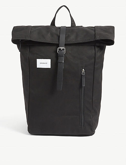 SANDQVIST: Dante organic-cotton canvas backpack