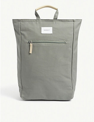SANDQVIST: Tony organic-cotton canvas backpack