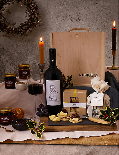 SELFRIDGES SELECTION: Mini English Cheese Board Gift Box::