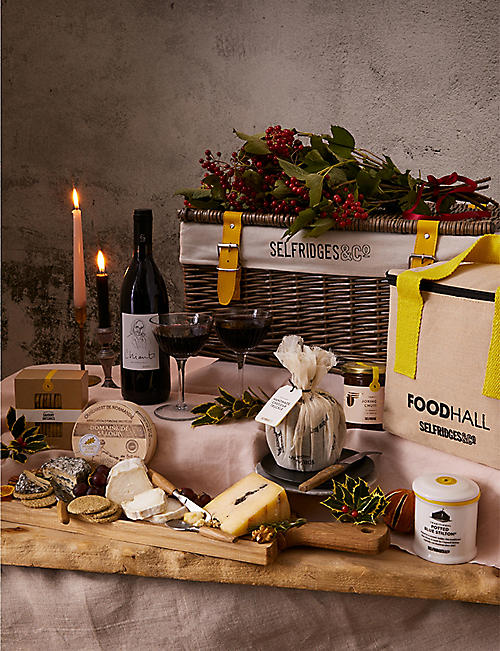 SELFRIDGES SELECTION: Cheese & Wine hamper