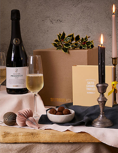 SELFRIDGES SELECTION: International Prosecco and Salted Caramel gift box
