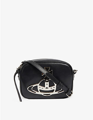VIVIENNE WESTWOOD: Anna Orb-logo leather camera bag