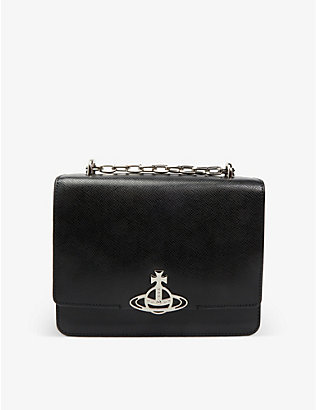 VIVIENNE WESTWOOD: Debbie medium saffiano leather cross-body bag
