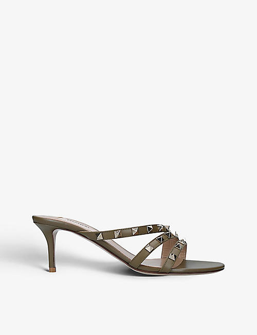 VALENTINO GARAVANI: Rockstud leather sandals