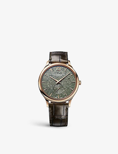 CHOPARD: 161945-5001 L.U.C XPS Spirit Of Nature 18ct rose-gold and alligator-embossed leather automatic watch