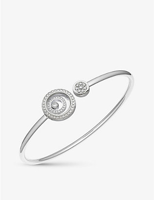 CHOPARD: Happy Spirit 18-carat white-gold and diamond bangle