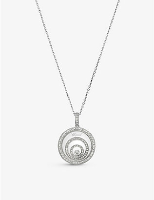 CHOPARD: Happy Spirit 18-carat white-gold and diamond necklace