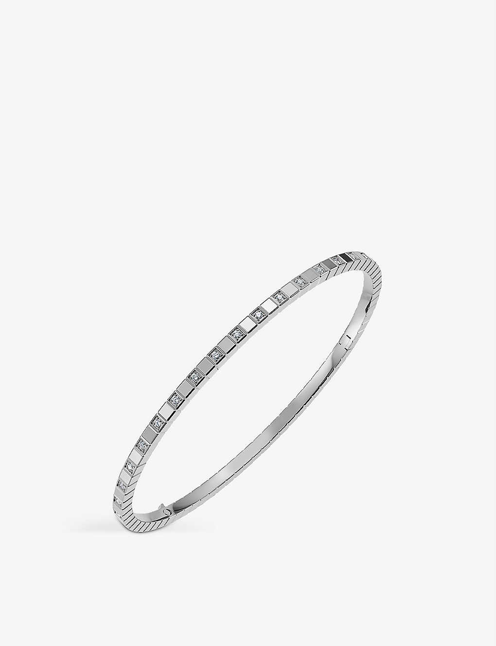 CHOPARD: Ice Cube Pure 18-carat white-gold and diamond bangle
