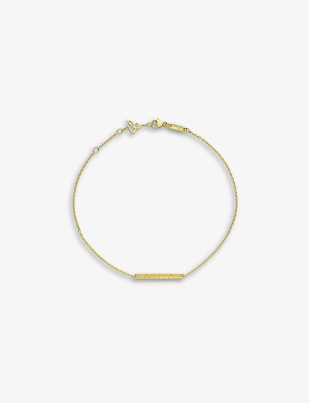 CHOPARD: Ice Cube Pure 18-carat yellow-gold and diamond bracelet