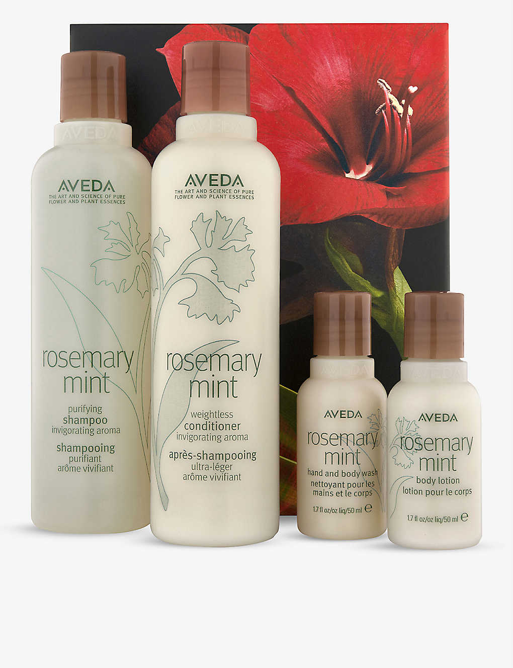 AVEDA: Rosemary Mint invigorating hair and body care set